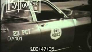 Stock Footage - Police on the Streets in New York City, 1970s