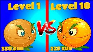 Plants vs Zombies 2 Mod Compare Citron 1 vs Citron 10 - Free Plantas Contra Zombies 2