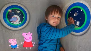 Peppa Pig Spaceship Fun and Airplane Ride On Toy