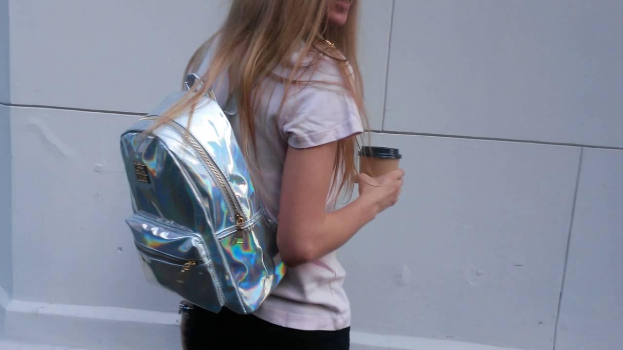 купить женский дешевый рюкзак - YouTube