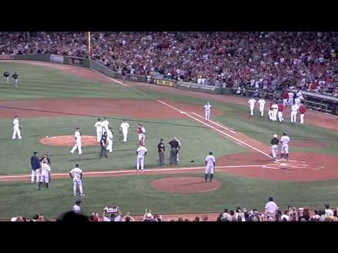 A-Rod hit by pitch vs. Red Sox benches clear