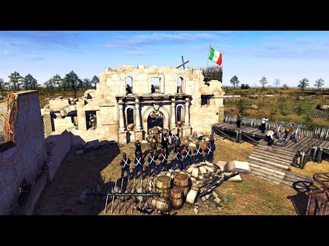 Historical Battle for the Alamo 1836, Texas vs. Mexico | Men of War: Assault Squad 2 Gameplay