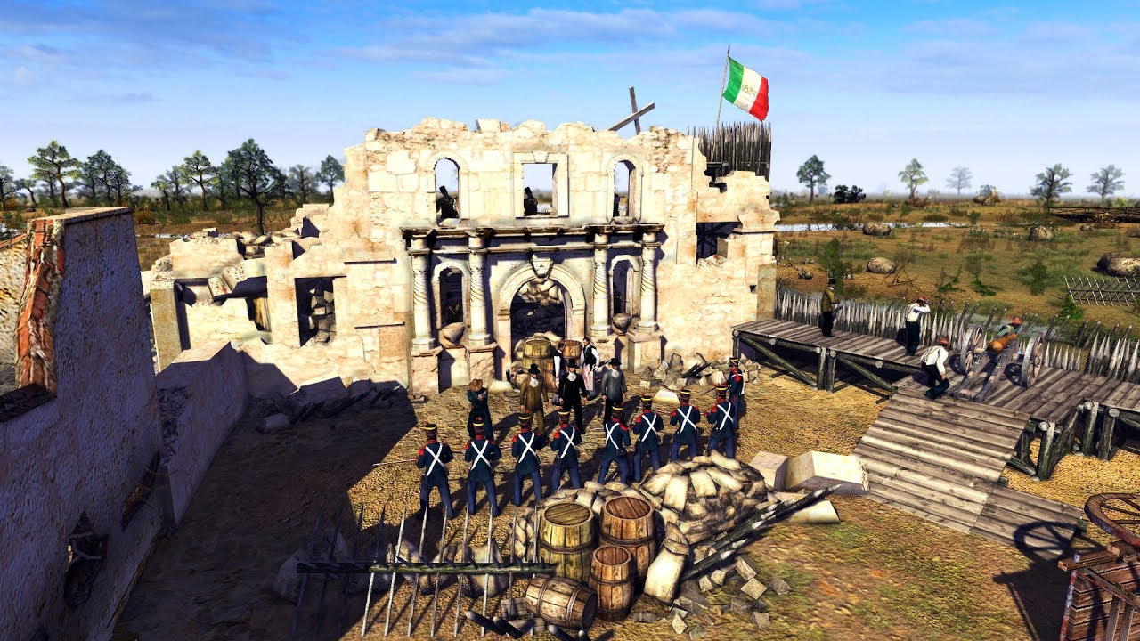 Historical Battle For The Alamo 1836  Texas Vs  Mexico