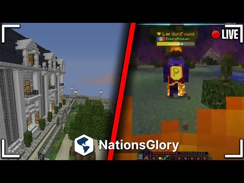 🔴 LIVE NATIONSGLORY ( chill, build... ) #NationsGlory#live🔴