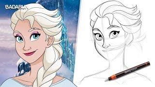 Clases de dibujo   aprende a dibujar a Elsa
