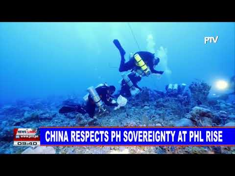 China respects PH sovereignty at Philippine Rise