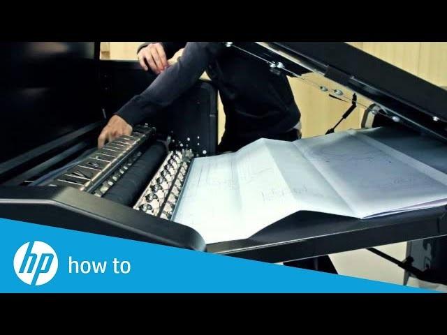 Jak zapobiegać zacinaniu się papieru w składarce HP PageWide XL