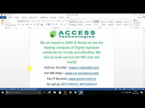 Sign And Lock Word Or Excel Document By Digital Signature Certificate