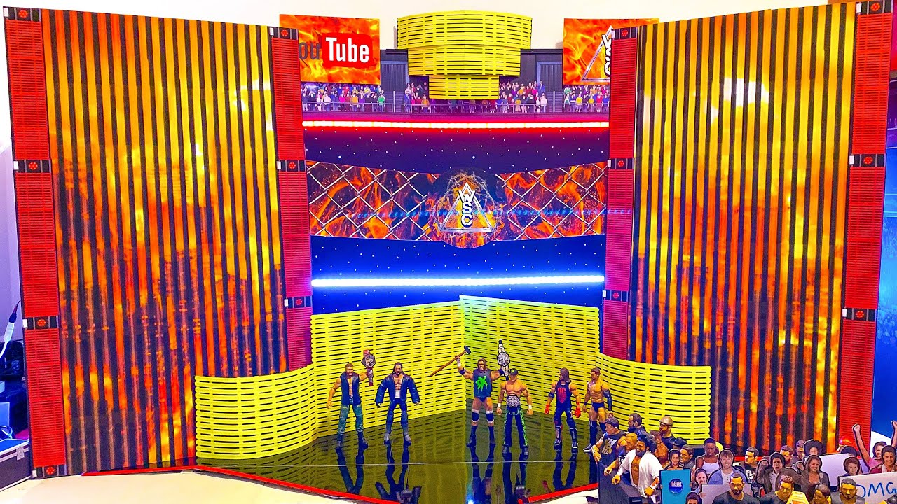 NEW CUSTOM WWE FIGURE STAGE + UPCOMING MATCH PREVIEWS!