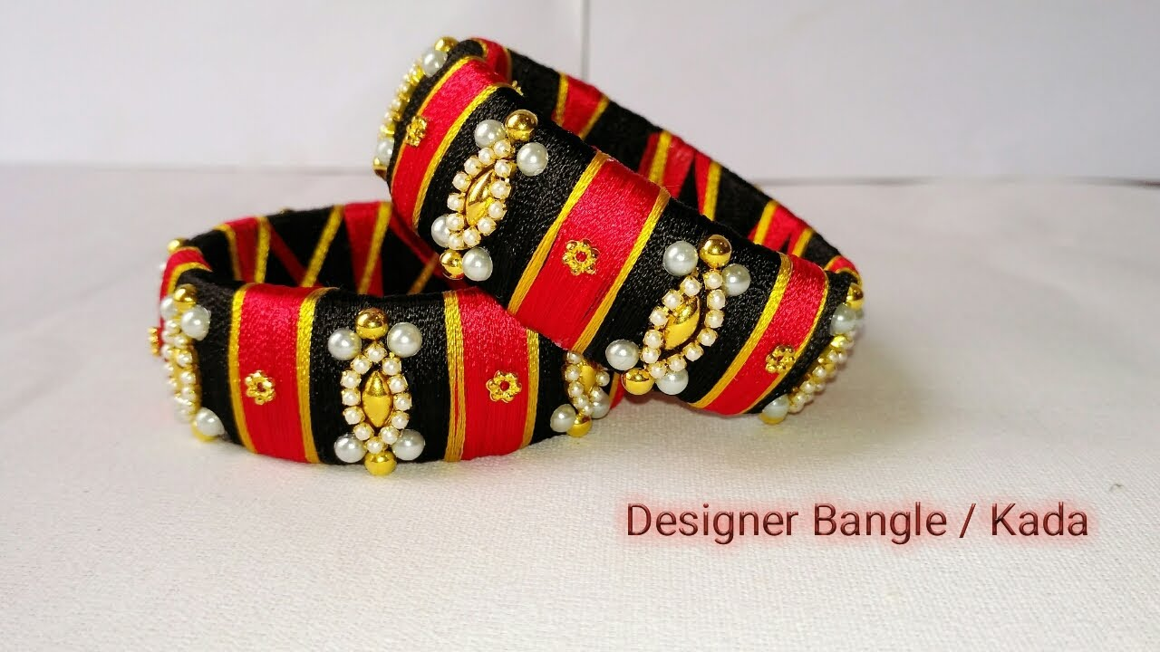 How To Make Designer Bangles Silk Thread Jewellery Silk Thread Bangle Making Tutorial At
