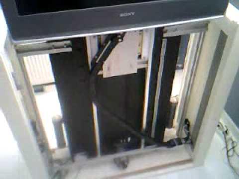 Tv lift youtube for Tv lift motor mechanism