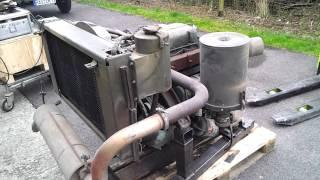 Probelauf eines Detroit Diesel 3-53 Motors aus einem Gama Goat M561 der US Army