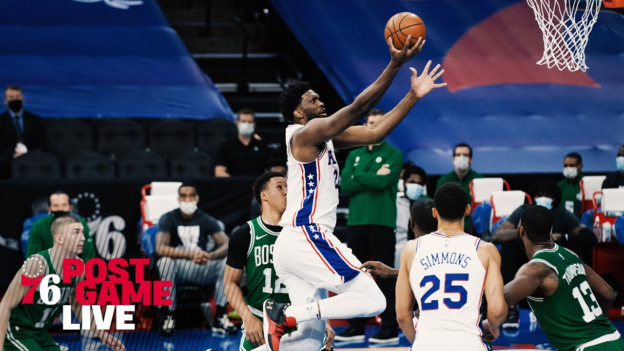 Sixers hold off Celtics behind Embiid's big night | Sixers Postgame Live | NBC Sports Philadelphia