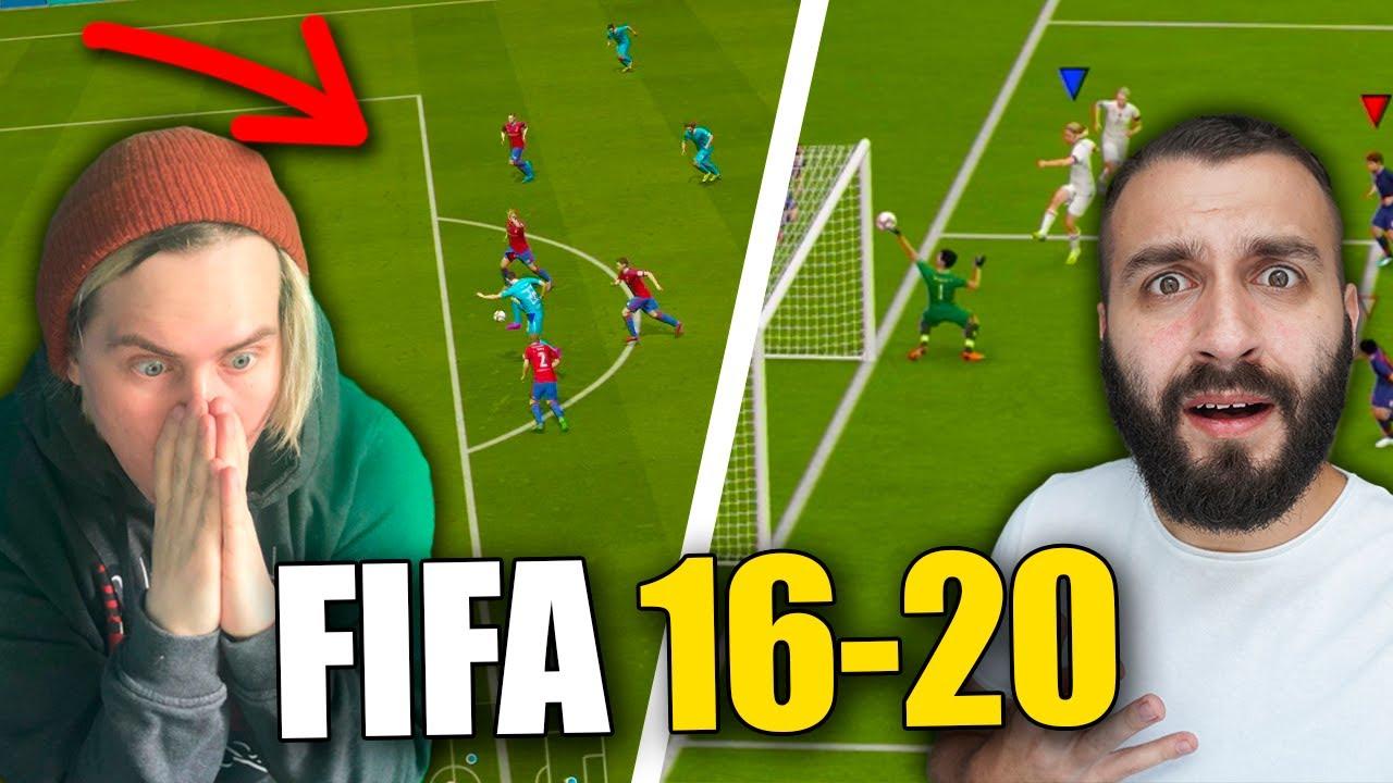 GENA MILLER vs EVONEON играют ВСЕ ЧАСТИ FIFA до ПЕРВОГО ГОЛА!