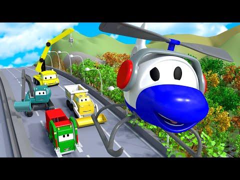 Creat the Garbage Machine - Turma da Construção na Cidade da Carro  Desenhos animados crianças