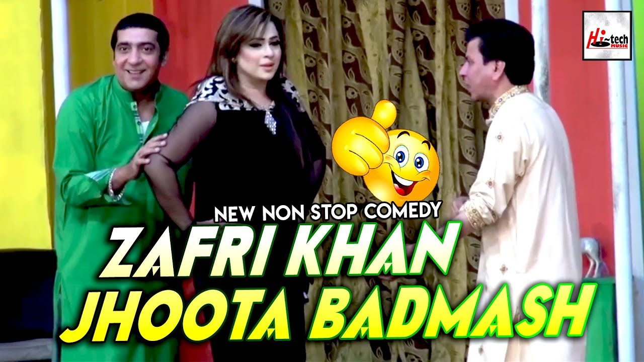 ZAFRI KHAN JHOOTA BADMASH - 2019 Must Watch Funny??Pakistani Stage Drama