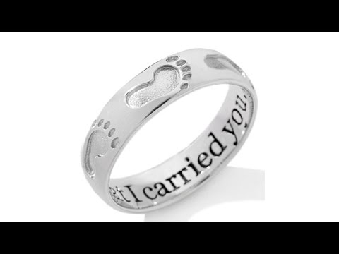 Michael Anthony Jewelry Footprints Sterling Band Ring