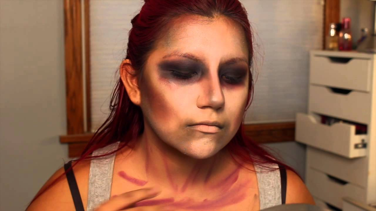 Easy Zombie Tutorial , Simple Halloween Makeup