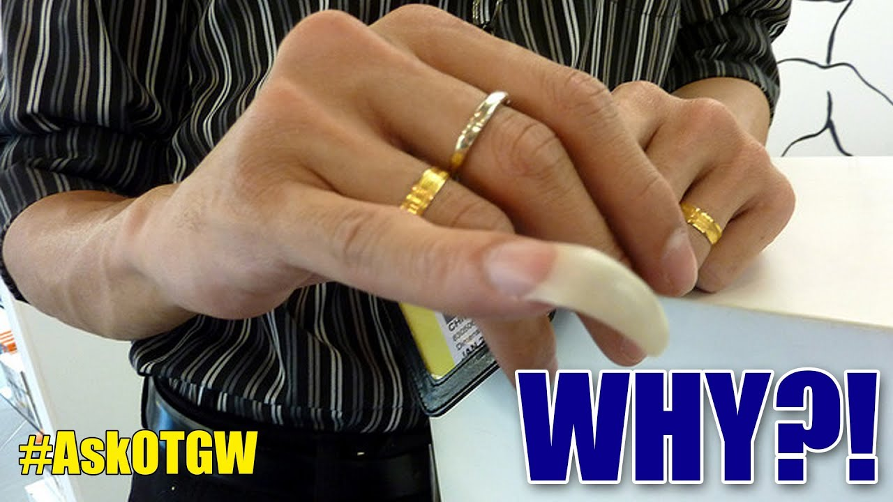 Why do Chinese Men Have Long Pinky Fingernails? #AskOTGW - YouTube