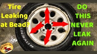 STOP SLOW TIRE AIR LEAKS....And How To Break a Tire Bead at HOME..DIY!