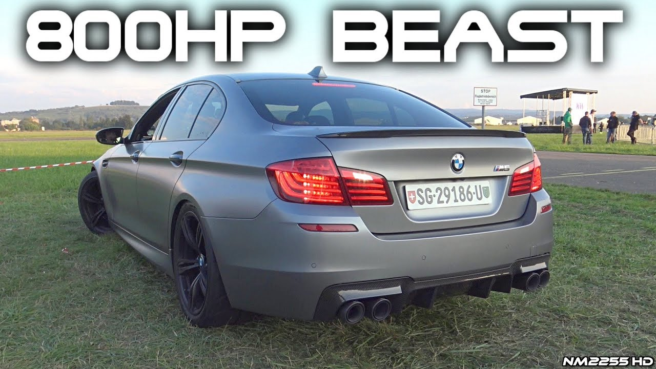 800hp tth turbolader bmw m5 f10 with straight pipes loud. Black Bedroom Furniture Sets. Home Design Ideas