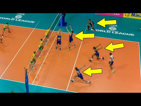 ALL TEAM ATTACK ● Beautiful Volleyball Actions (HD)