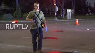 Subscribe to our channel! rupt.ly/subscribeupdate: police have arrested the gunman seen in footage and charged him with first degree intentional homicide...
