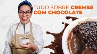 TUDO sobre cremes bases da confeitaria e como saborizá-los com chocolate
