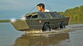 Homemade Amphibious GOKart boat pt 2