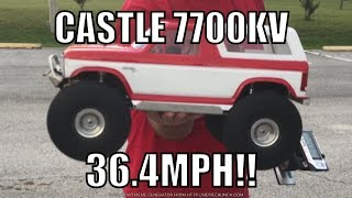 Traxxas TRX 4 with a 7700kv Castle motor on 3S!!