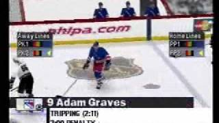 NHL Championship 2000 PS1 - Gameplay footage part 3 of 3