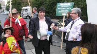 London : Thalidomide Victims Protest Oct. 03, 2008