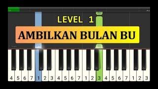 not piano ambilkan bulan bu - tutorial piano tingkat 1 - lagu anak anak