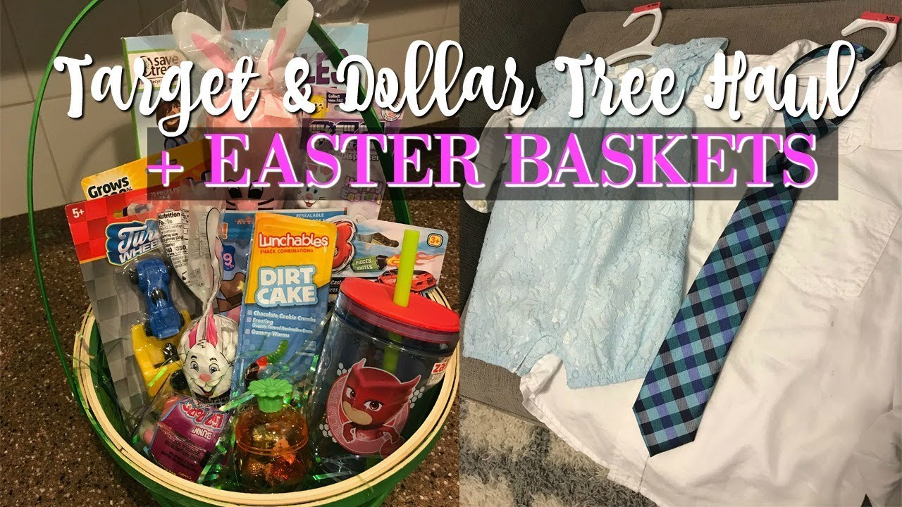 Target Dollar Tree Haul Easter Basket Ideas Easter Outfits And