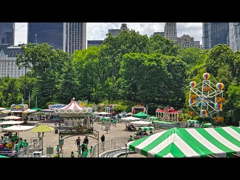 Victorian Gardens in the Wollman Rink of Central Park, Manhattan, New York City