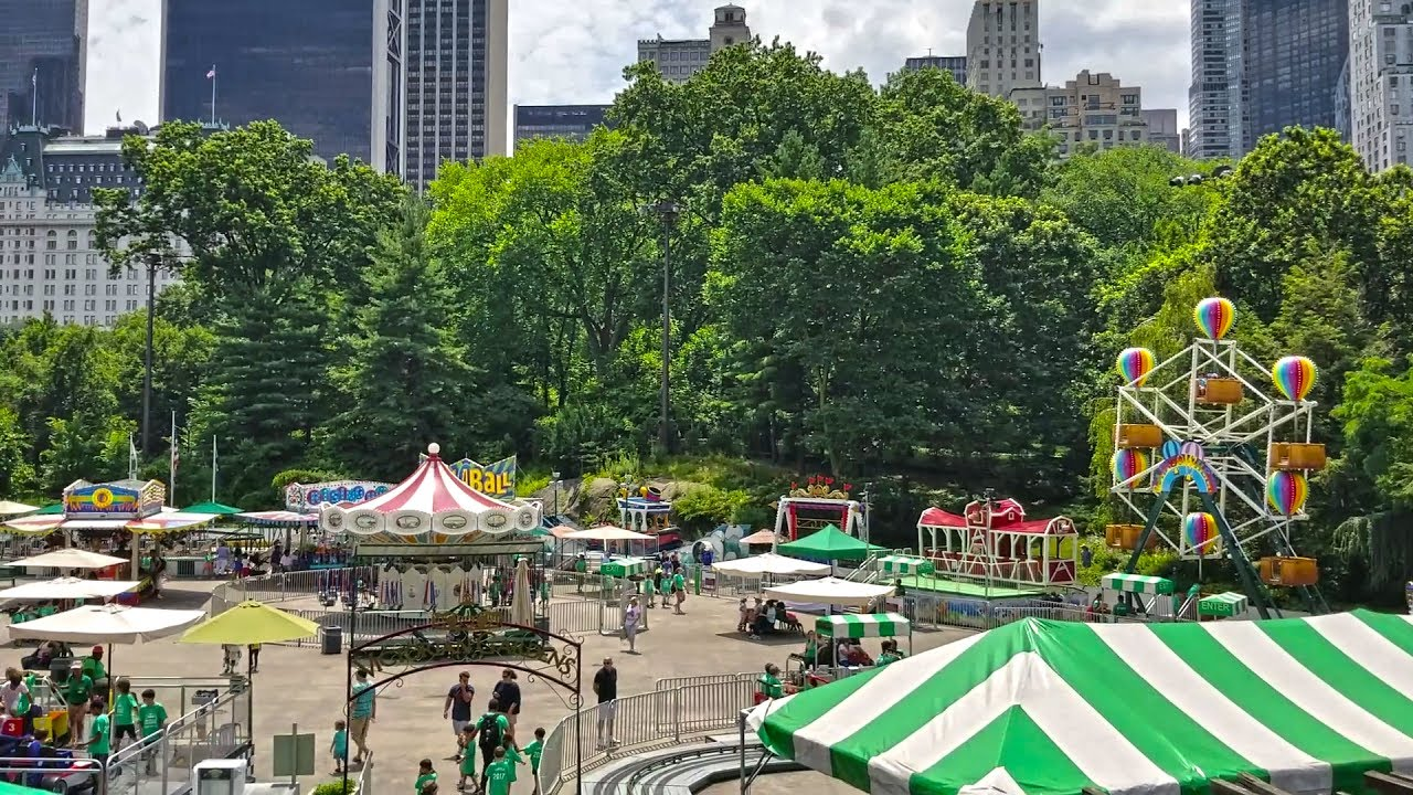 Victorian Gardens In The Wollman Rink Of Central Park Manhattan New York City Youtube