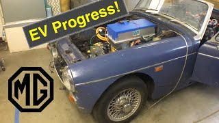 MG Midget EV Conversion Part9 Progress!
