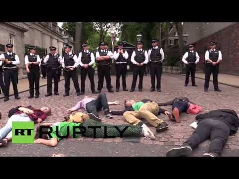 UK: Tensions high at Israeli embassy pro-Palestine protest