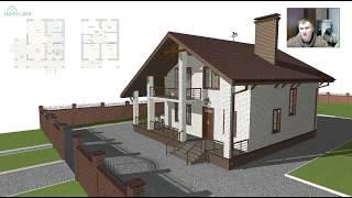 Проект  небольшого жилого дом с мансардой «Шале» C-305-ТП(, 2017-12-05T08:30:07.000Z)