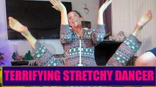TERRIFYING STRETCHY DANCER! - Vlogmas 23