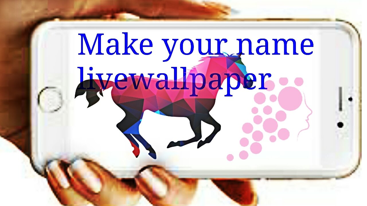 Make your own live wallpaper - YouTube