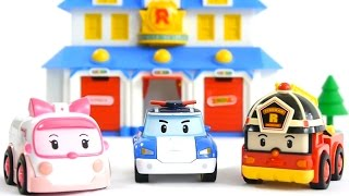 Robocar Poli Rescue Team HQ Toy Collection Cartoon Live Demo Review (Робокар Поли, 로보카 폴리)