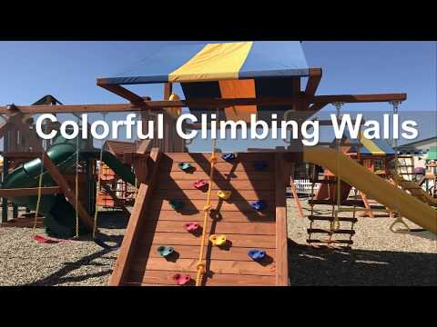 🏃🏼♀️  Wooden Slide And Swing In Akron Ohio - Kids Outdoor Play Equipment In Akron Ohio 🏃🏼