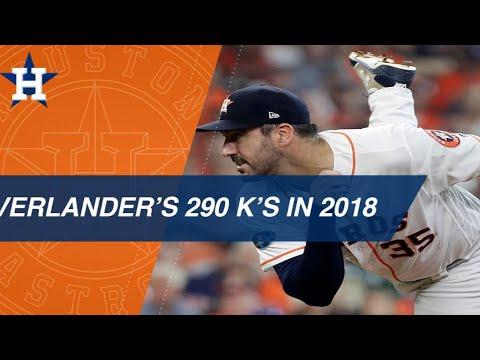 Verlander's 290 K's in the 2018 season
