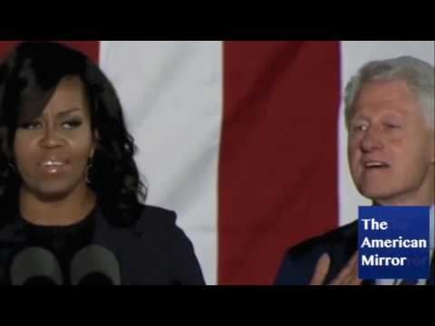 Bill Clinton spaces out, chews his tongue during late night Philly rally