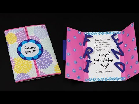 DIY Friendship Day Special Card | How To Make Friendship Day Card For Best Friend
