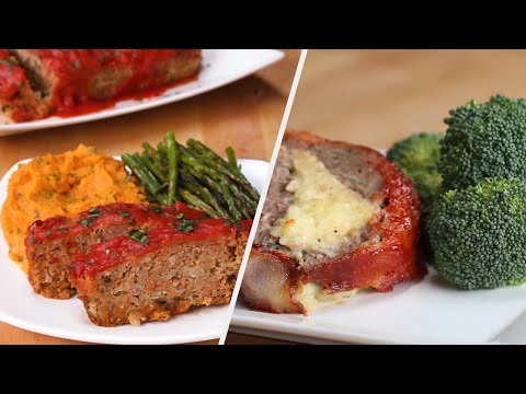 Delicious Meatloaf 4 Ways •Tasty