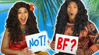 MOANA VS MAUI BEST FRIEND TAG. (Will They Be Best Friends or Not?) Totally TV Challenge