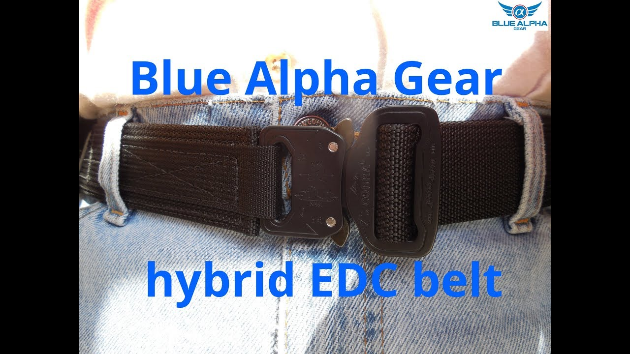 942eebe369f9e Blue Alpha Gear Hybrid EDC Belt - YouTube
