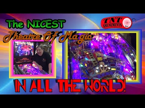 #1123 Bally THEATRE OF MAGIC -Nicest in the WORLD! TNT Amusements